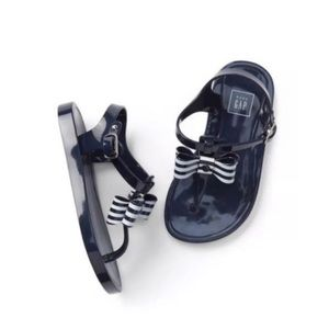 Baby gap blue jelly bow sandals